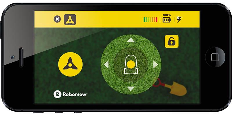 Die Robomow® App -Steuerung